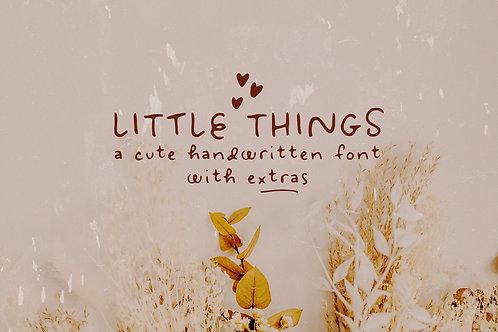 Little Things handwritten font