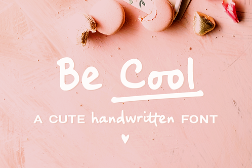 Be Cool handwritten sans font