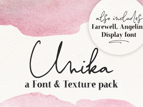 New collection, Unika & Watercolor Overlay Photoshop tutorial!