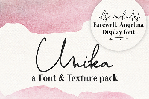 Unika font and texture pack