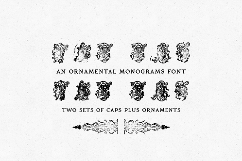 The End ornate monogram font