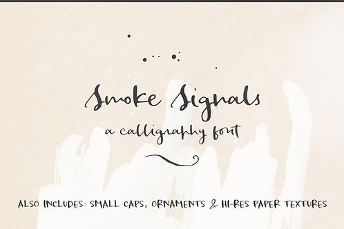 Smoke Signals script font