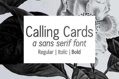 Calling Cards sans serif font