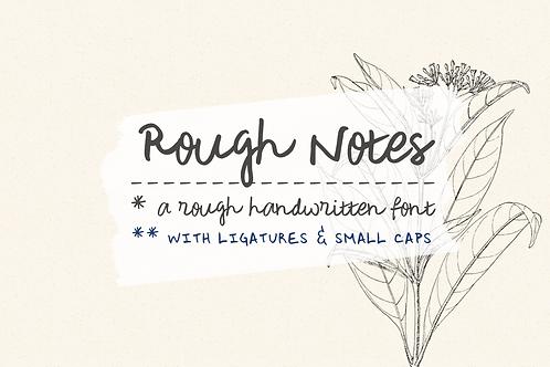 Rough Notes handwritten font