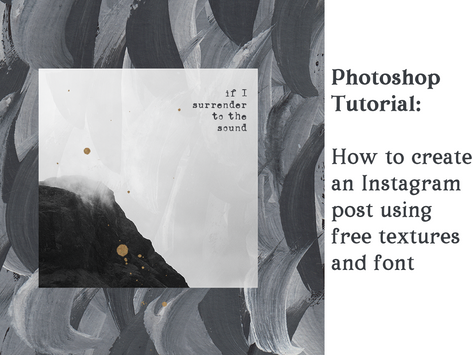 How to create an eye-catching Instagram post using free textures and font