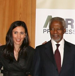 Carolina Rodriguez with Kofi Annan