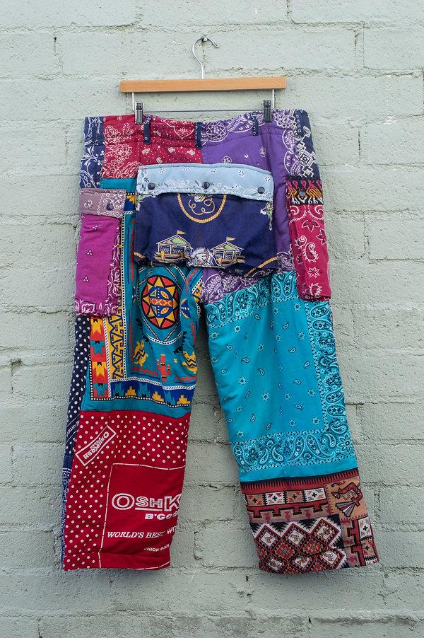 SLA Monkey Handkerchief Puffer Pants_bac