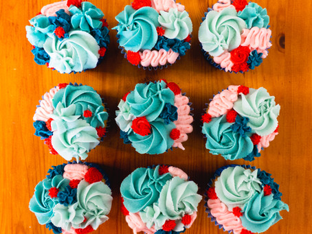 Cupcakes with Buttercream Decoration
