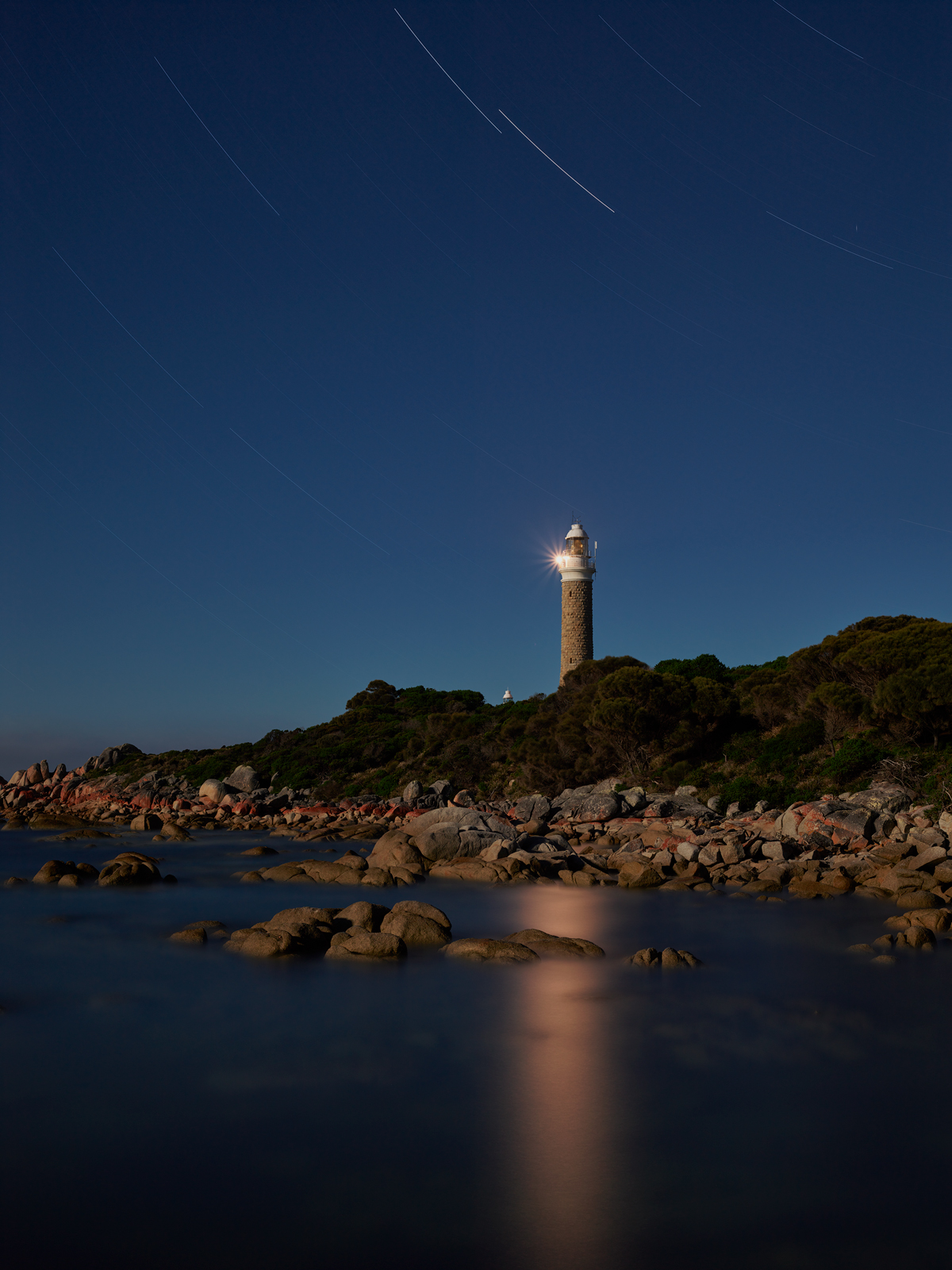 The Eddystone Point Lighthouse