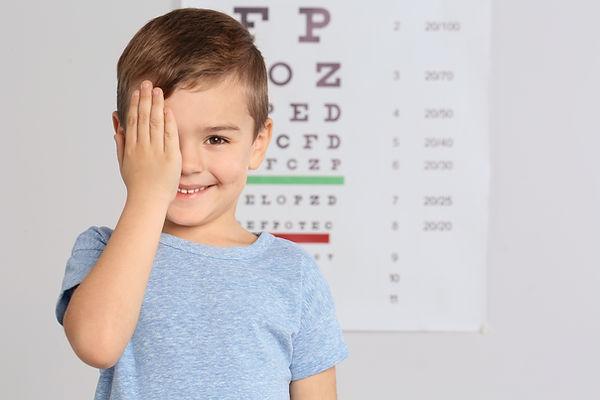 Cute little boy visiting children's doct