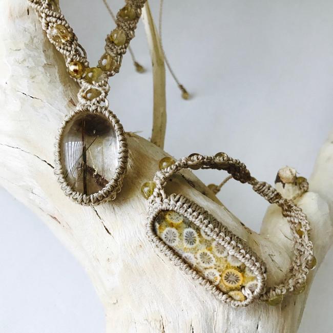 Rutilated Quartz Necklace & Bracelet