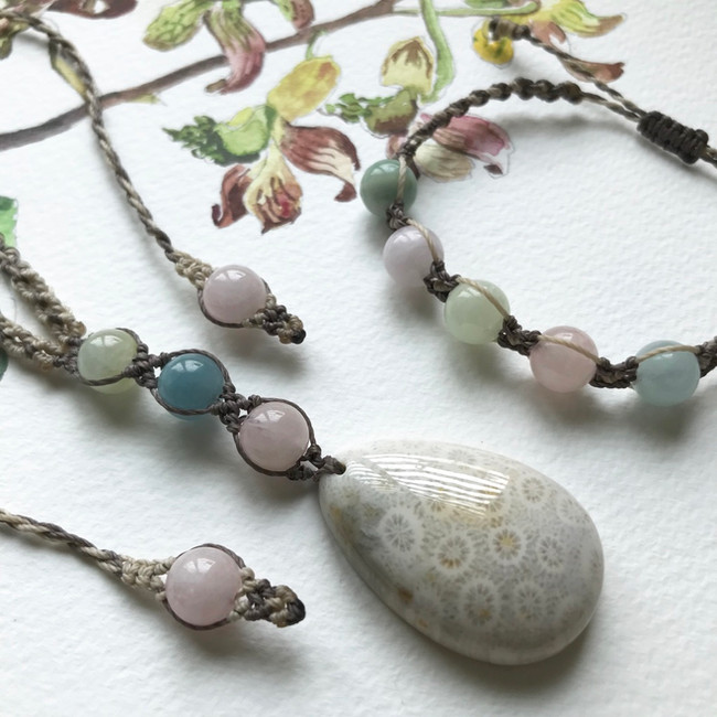Fossil Coral & Beryl Necklace.jpg