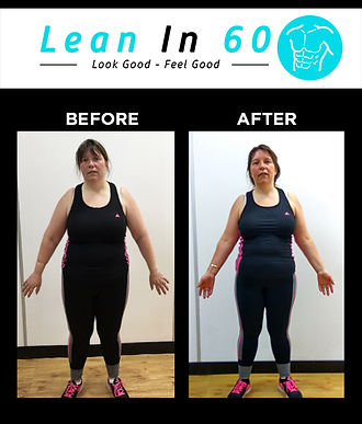 Lean in 60 Befor and after Weight loss Bognor Suzan