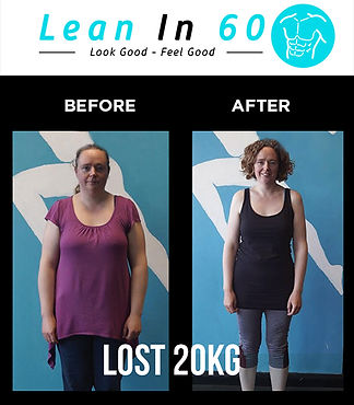 Lean in 60 Befor and after Weight loss Wendy