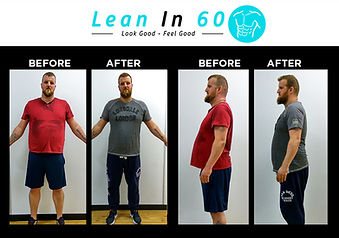 Lean in 60 Befor and after Weight loss Bognor welder Aaron