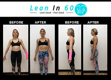 Lean in 60 Befor and after Weight loss Bognor Kerry Yoga Instructor