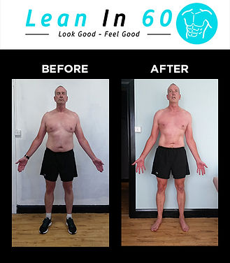 Lean in 60 Befor and after Weight loss Bognor Paul