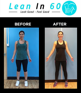 Lean in 60 Befor and after Weight loss Bognor Anna