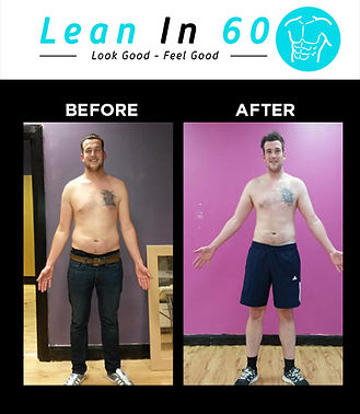 Lean in 60 Befor and after Weight loss Bognor