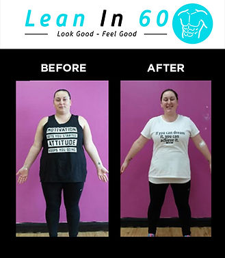 Lean in 60 Befor and after Weight loss Kam