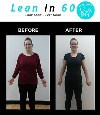 Lean in 60 Befor and after Weight loss Bognor transformation