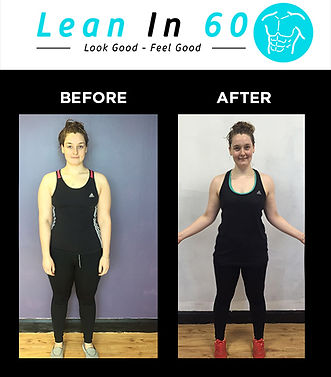 Lean in 60 Befor and after Weight loss Bognor Danni