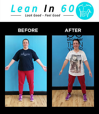 Lean in 60 Befor and after Weight loss Bognor Kristina