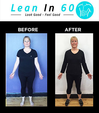Lean in 60 Befor and after Weight loss Bognor Sarah