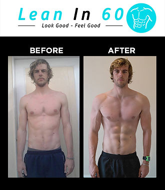 Lean in 60 Befor and after Weight loss Bognor Personal trainer Ben
