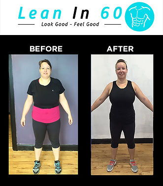 Lean in 60 Befor and after Weight loss Bognor Maria