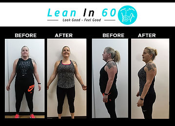 Lean in 60 Befor and after Weight loss Bognor Bryony