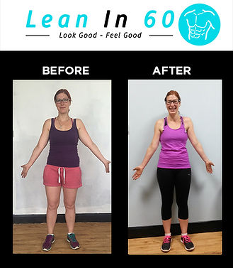 Lean in 60 Befor and after Weight loss veronica
