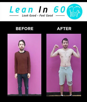Lean in 60 Befor and after Weight loss Bognor Muscle