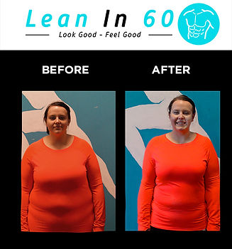 Lean in 60 Befor and after Weight loss Bognor 10kg