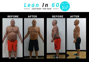 Lean in 60 Befor and after Weight loss Bognor 60 years old