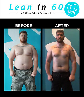 Lean in 60 Befor and after Weight loss Gary