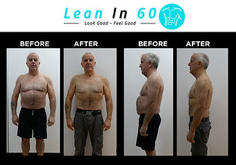 Lean in 60 Befor and after Weight loss Bognor Lower Blood pressure Kev