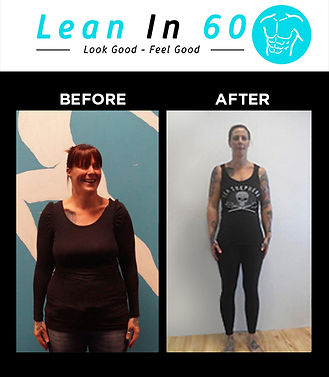 Lean in 60 Befor and after Weight loss Paula