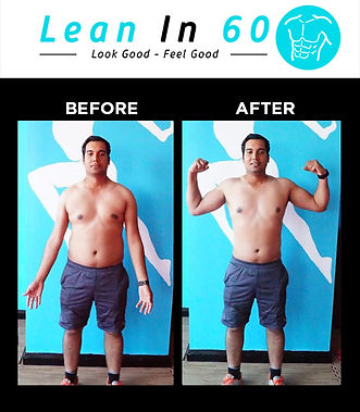 Raj Lean in 60 Befor and after Weight loss Bognor