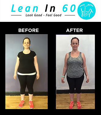 Lean in 60 Befor and after Weight loss Bognor Crystal