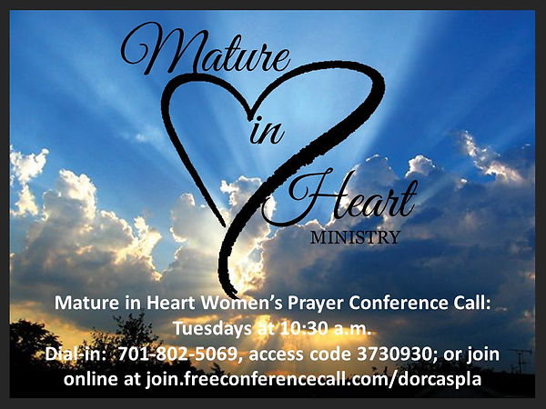 Mature in Heart Women's Prayer conferenc