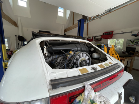 911 vertible engine install. 42 minutes. Helps to have a lift
