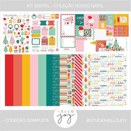 Kit Digital Scrapbook Papelaria - Coleção Nosso Natal