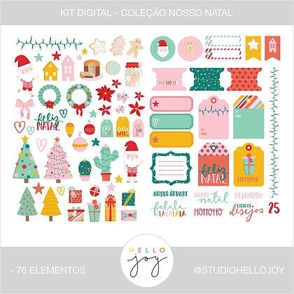 Kit Digital Scrapbook Papelaria - Coleção Nosso Natal Elementos