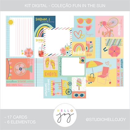 Kit Digital Scrapbook Papelaria - Coleção Fun In The Sun Cards