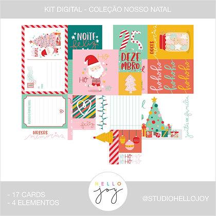 Kit Digital Scrapbook Papelaria - Coleção Nosso Natal Cards