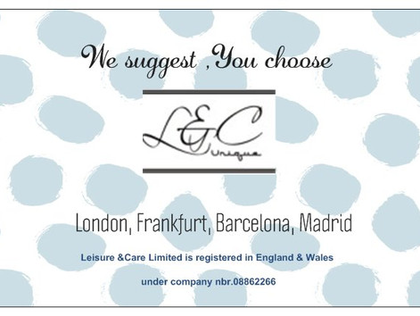 LEISURE & CARE  WE SUGGEST, YOU LIVE!