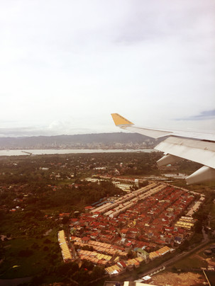 Arriving in Cebu.