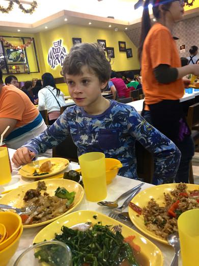 Viktor is starting to like Thai food!