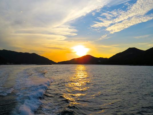 Sunset over Lamma Island